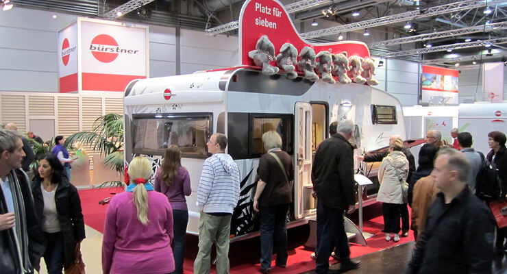 Bürstner ist auf der Freizeit-Messe Touristik & Caravaning International (TC) vom 21. bis 25. November 2012 in Leipzig vertreten.