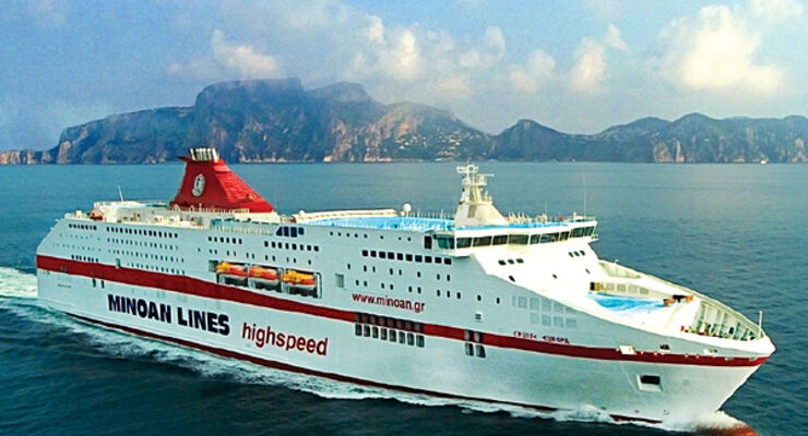 Cruise Europa Minoan Lines Kreuzfahrtfähre Ancona Igoumenitsa Patras Grimaldi Group Reisemobil Caravan Wohnmobil Wohnanhänger