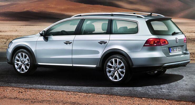 Der VW Passat Alltrack verbindet Pkw-und SUV-Welt mit erhöhter Bodenfreiheit und neuem Offroad-Design