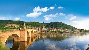Die Alte Bruecke in Heidelberg.