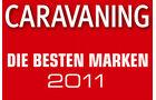 Ergebnisse: die besten Marken der CARAVANING Leserwahl 2011