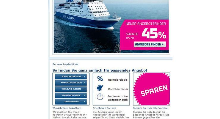 Jetzt soll es noch einfacher sein, mit DFDS günstig in den Urlaub zu verreisen - dank Angebotsfinder.