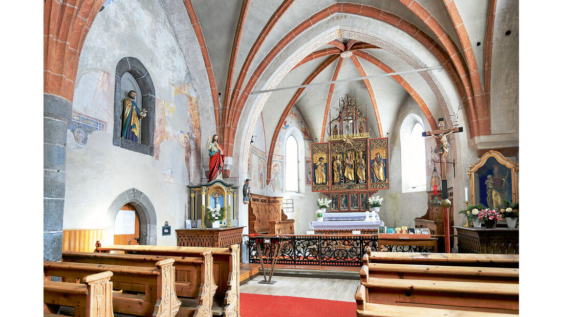 """""""Kirche zur heiligen Katharina"""" in Corvara"""