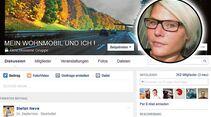 """""""Mein Wohnmobil und ich – wir reisen allein"""" ist eine Gruppe für alleinreisende Frauen und Männer."""
