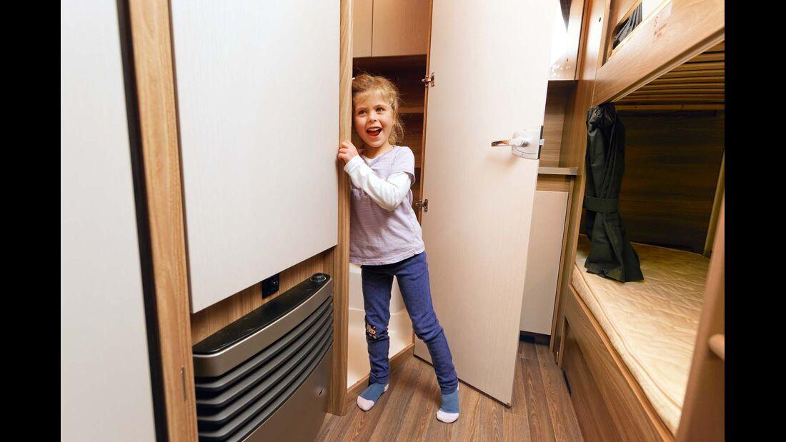 3-kW-Heizung sehr nahe bei den Kinderbetten.