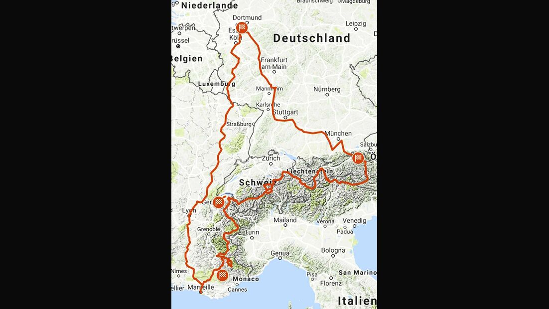 Alpentour Karte