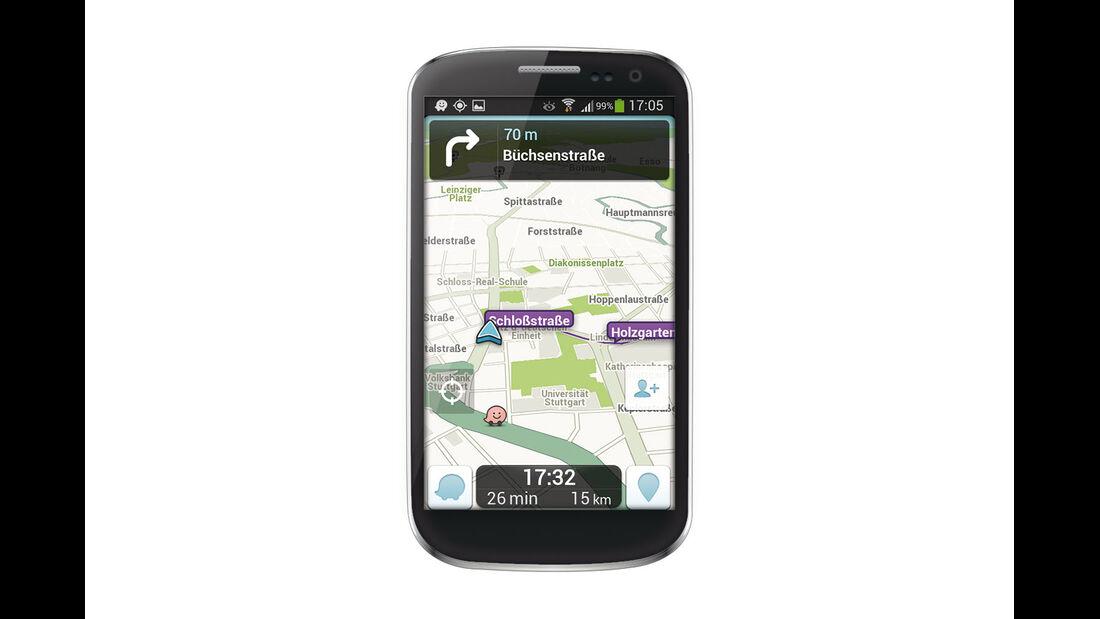 App für Navigation nach Nutzerinformationen
