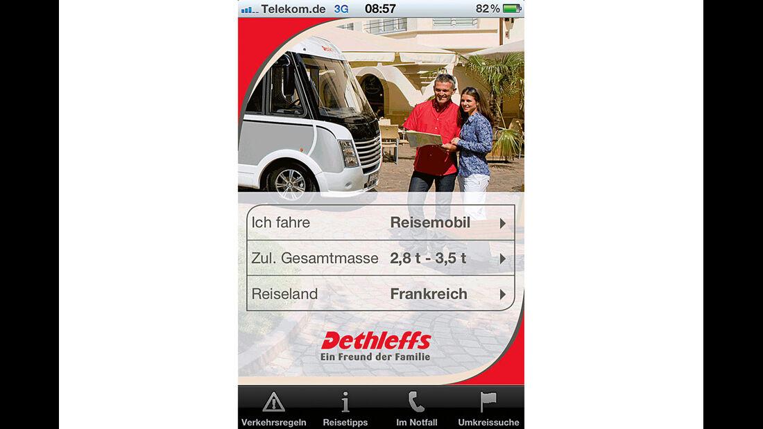 App für Reiseinfos von Dethleffs