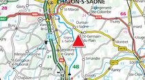 Archiv: Gigny-sur-Saône, Karte