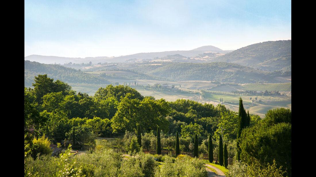 Atembeaubend ist auch die Landschaft in der Toskana.