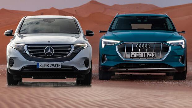 Audi E-Tron Mercedes EQC Elektro SUV Vergleich 2019