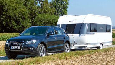 Audi Q5 mit Caravan