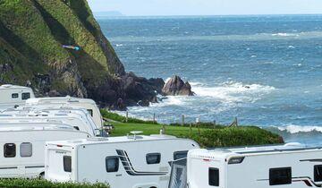 Auf dem Camping Putsborough Sands dürfen nur Caravans stehen.