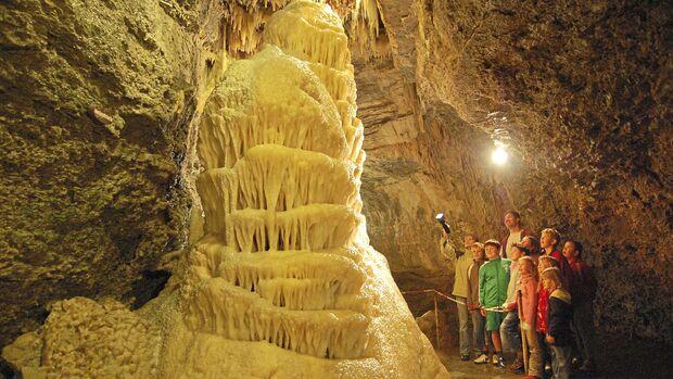 Begehbare Höhlen Eberstadter Tropfsteinhöhle