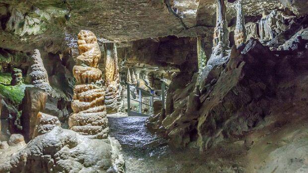 Begehbare Höhlen Erdmannshöhle