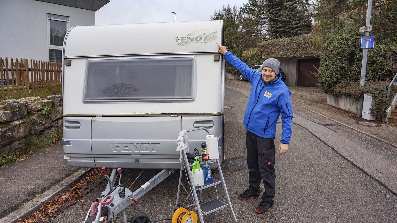 Wohnwagen oder wohnmobil aufkleber für Sticker camping