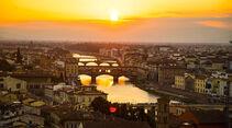 Bester Ausblick auf Florenz von der Piazzale Michelangelo.
