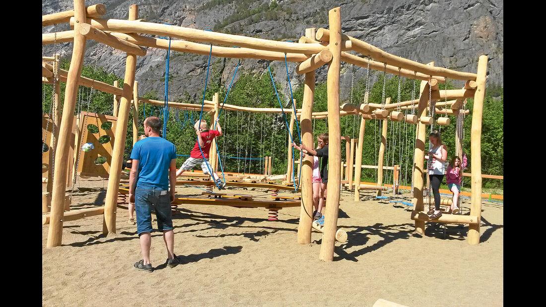 Bewegungsparcours im norwegischen Laerdal