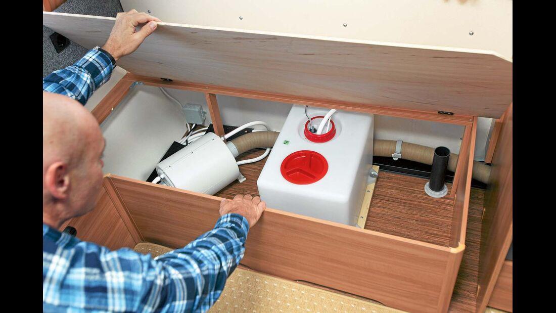 Bisweilen Schäden am Möbelunterbau von Staukästen und Betten
