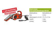 Black & Decker Pivot Autohandstaubsauger PAV1205