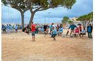 Boule-Spieler in Antibes.