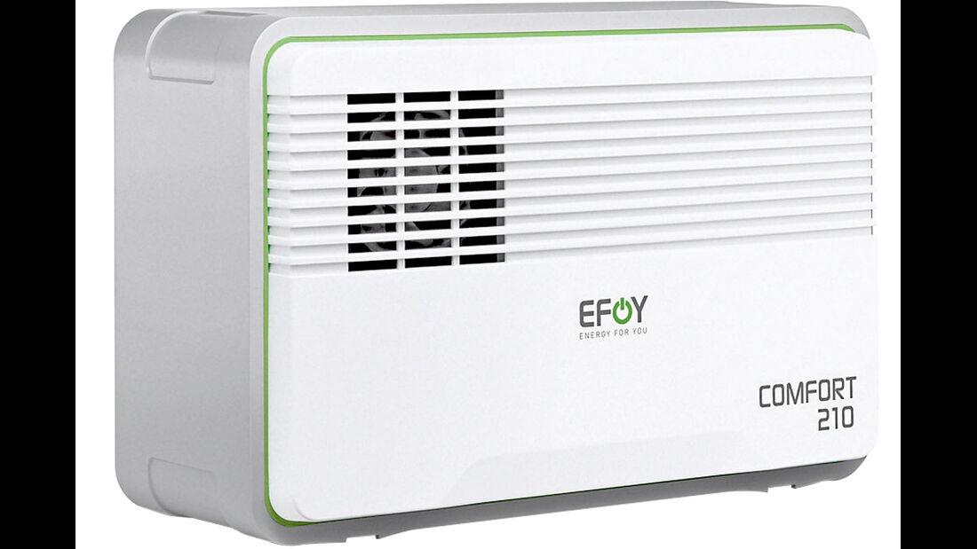 Brennstoffzelle Efoy Comfort 210 braucht 2,5 Stunden, um Efoy Go zu laden