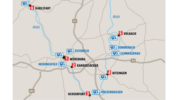 CAR 03/20 - Fränkisches Weinland - Karte