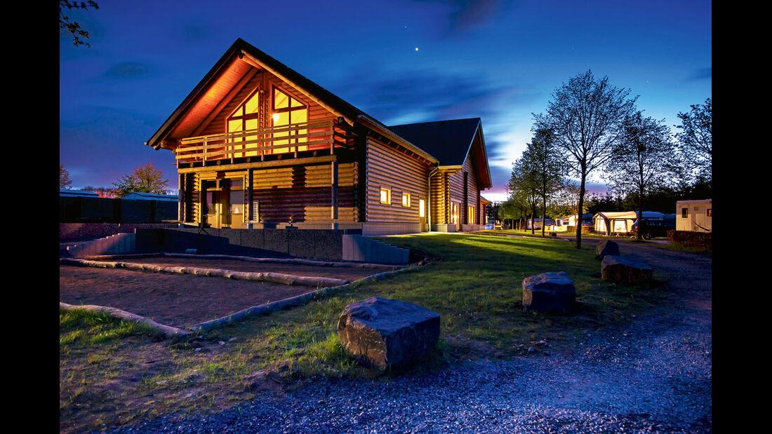 Camping Fuussekaul, Sauna, Holzhaus, Saunahaus
