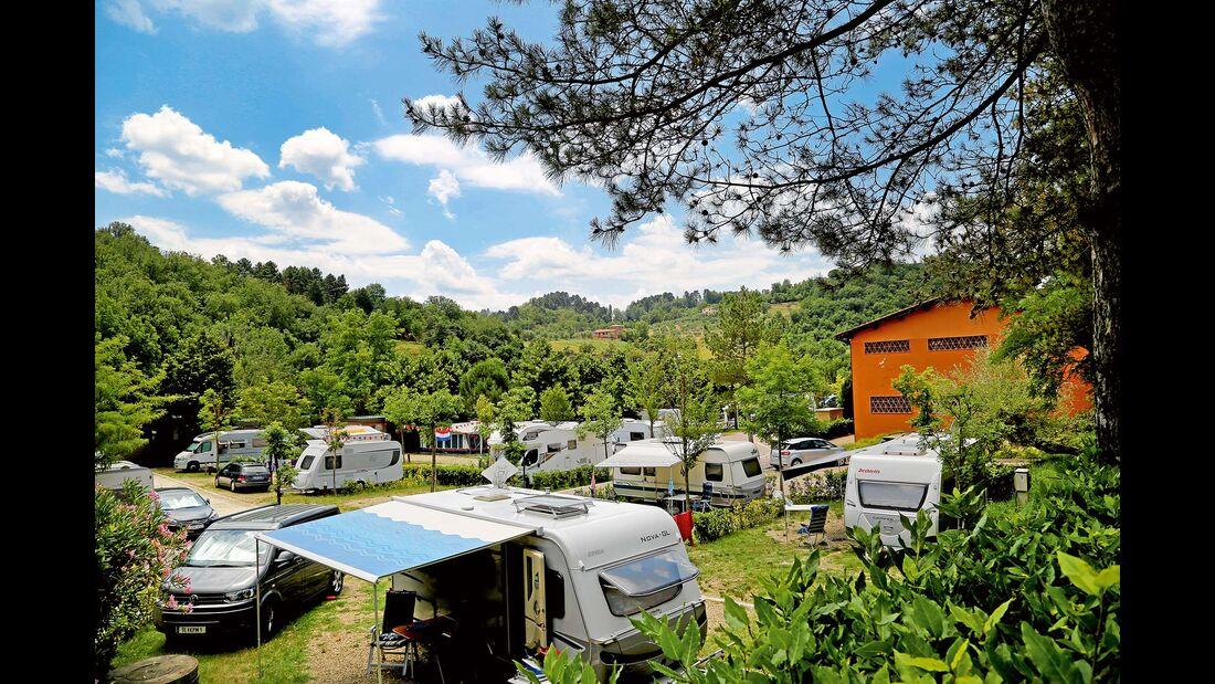 Camping Norcenni Girasole in Figline Valdarno