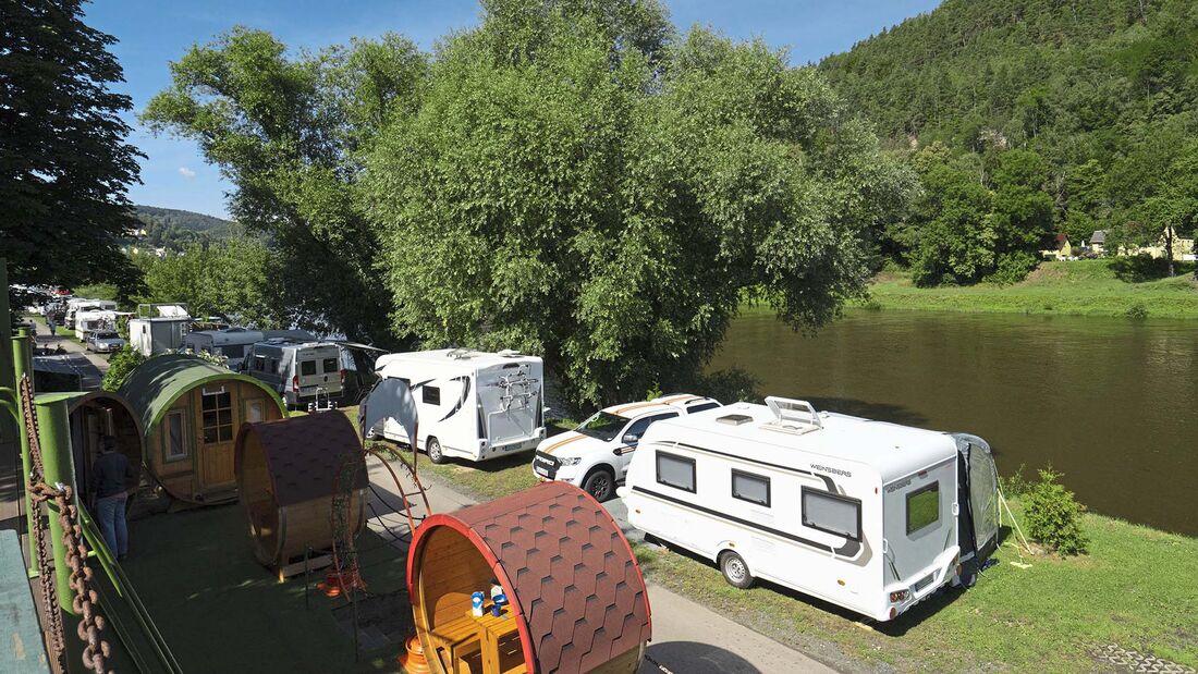 Camping-Reise Elbsandsteingebirge