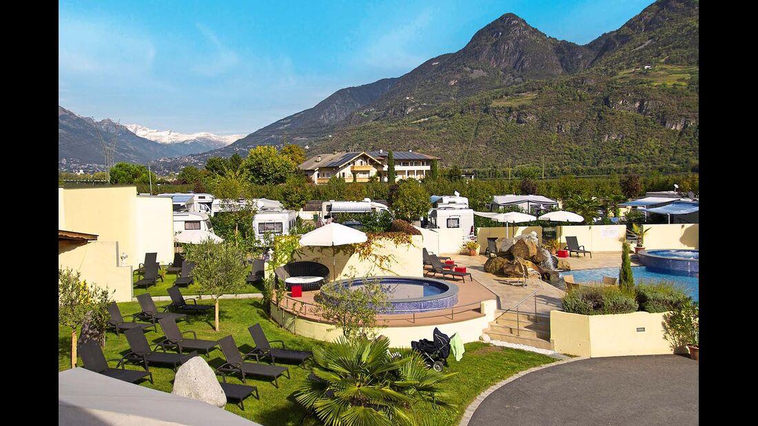 Camping Schlosshof in Lana bei Meran