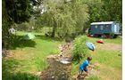 Camping Wagenburg: natürlicher Wasserspielplatz inklusive.