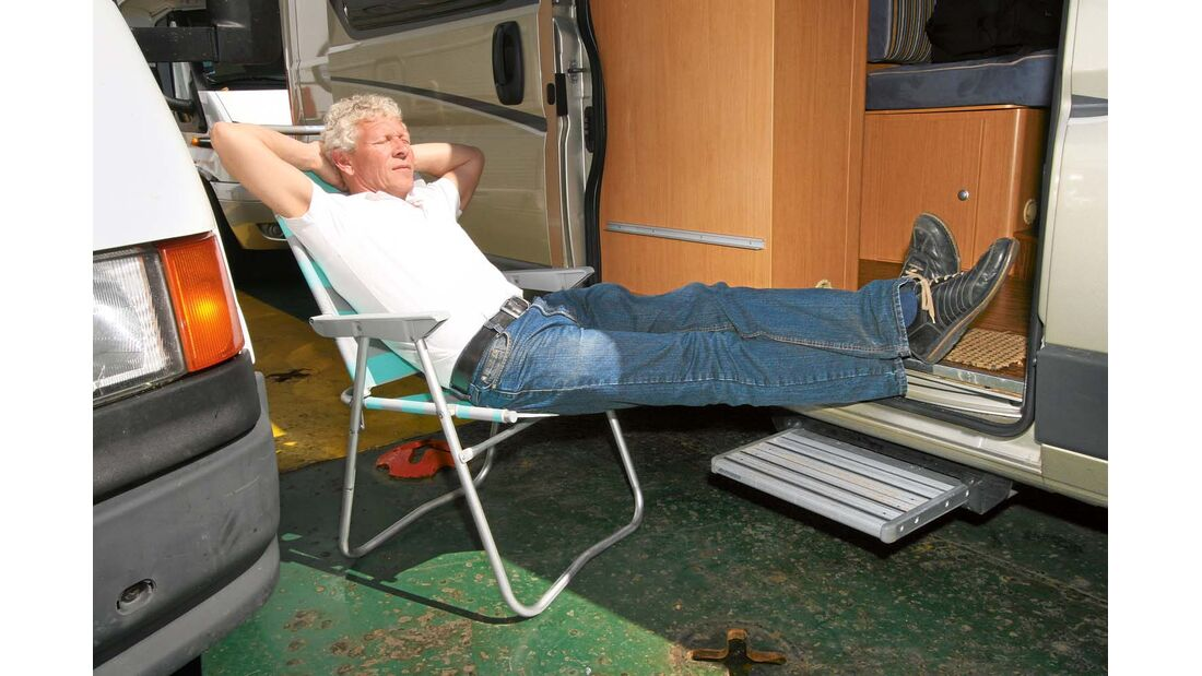 Camping an Bord ist komfortabel.