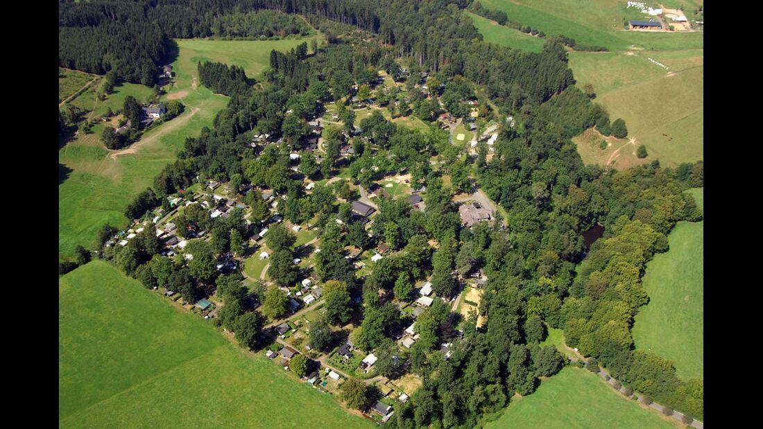 Camping im Eichenwald in Mittelhof