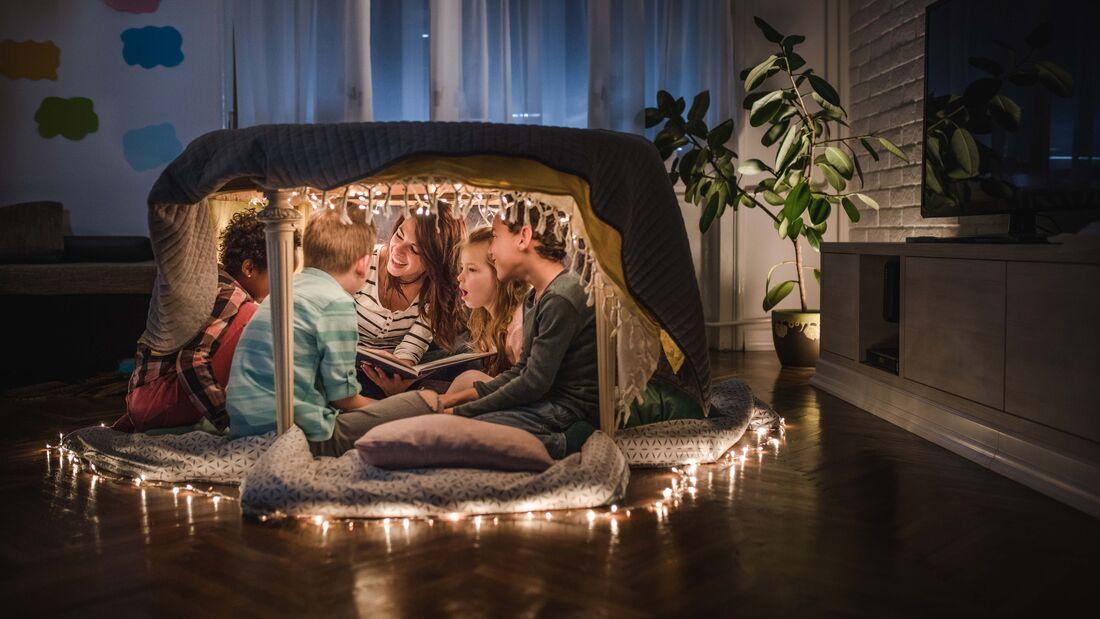 Campingfeeling zuhause, Zelt bauen