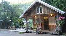Campingplatz Campinghäuschen