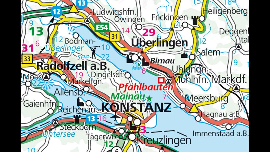 Campingplatz Klausenhorn, Karte