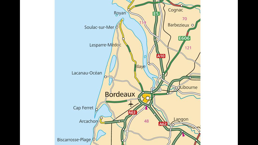 Campingplatz des Monats, CAR 05/2012 - Les Grands Pins, Karte