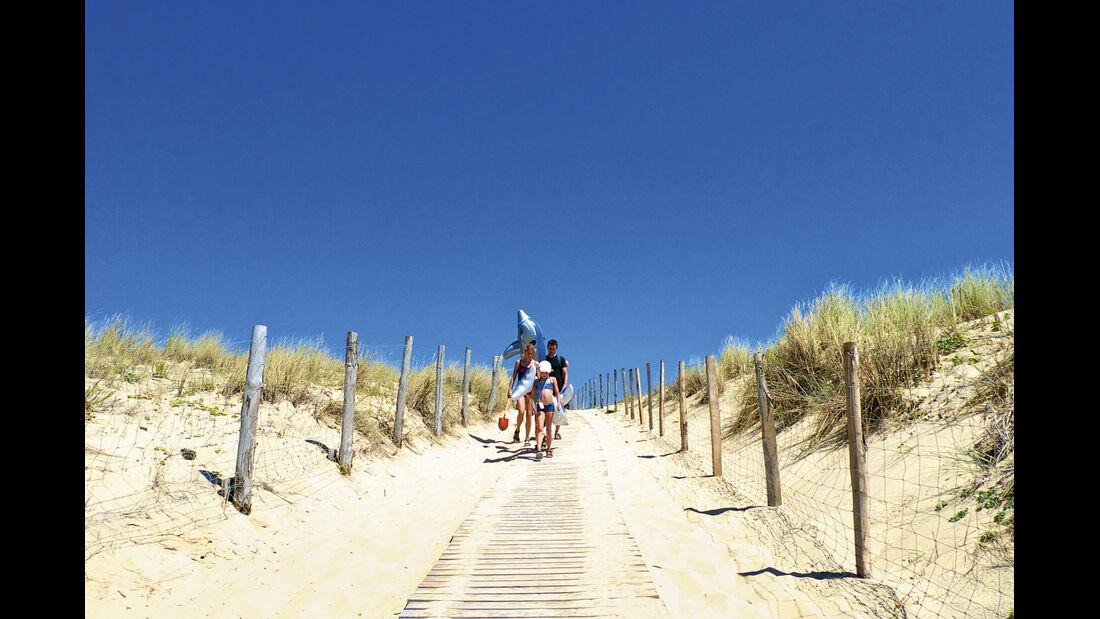 Campingplatz des Monats, CAR 05/2012 - Les Grands Pins, Zugang Strand