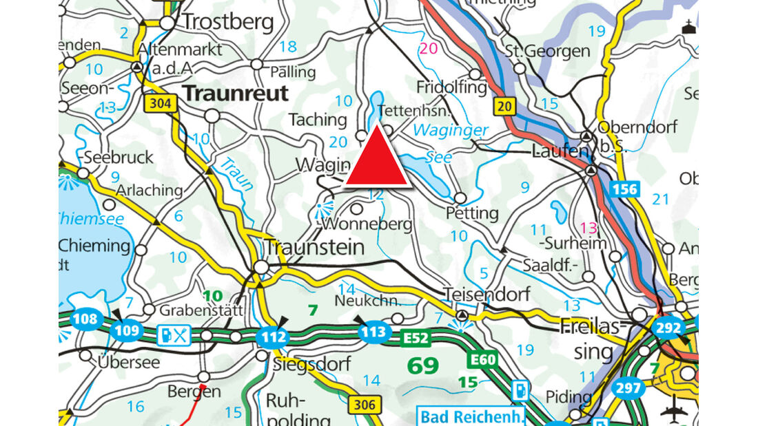 Campingplatz des Monats: Waging, Karte