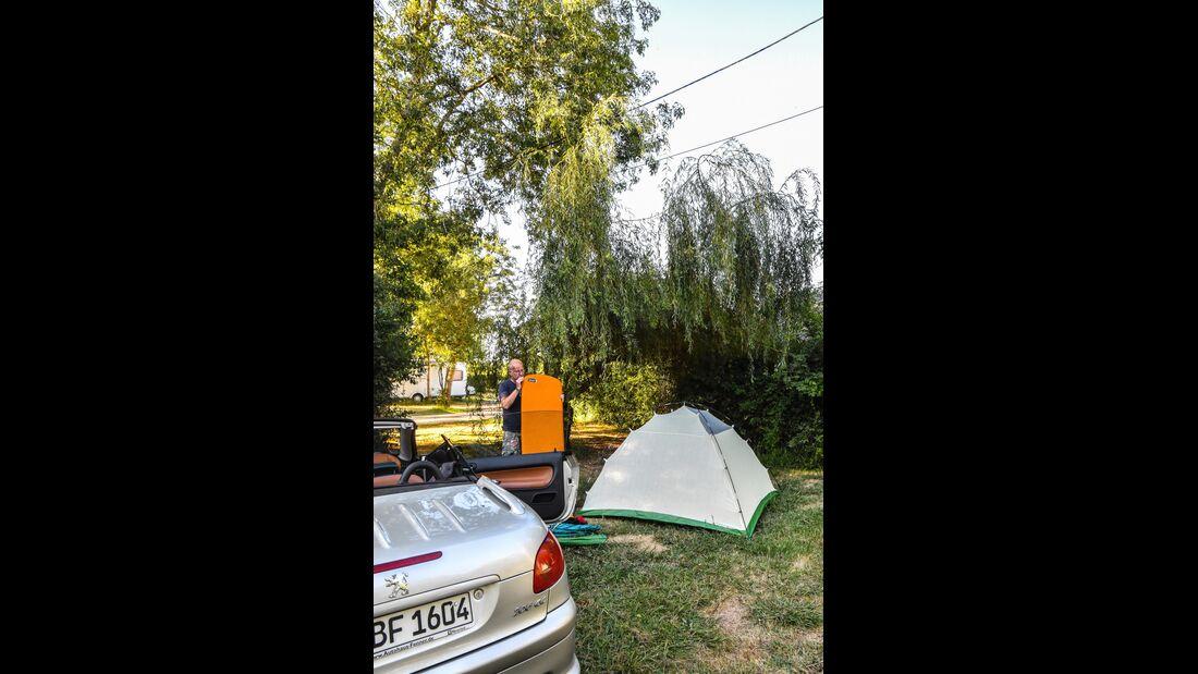 Campingplatz in Frankreich