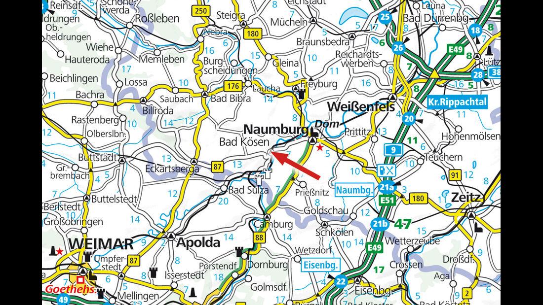 Campinplatz: Archiv, Bad Kösen, Karte