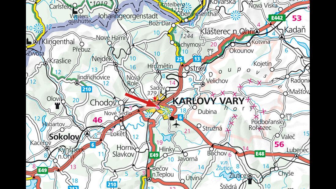 Campinplatz: Archiv, Karlovy Vary, Karte