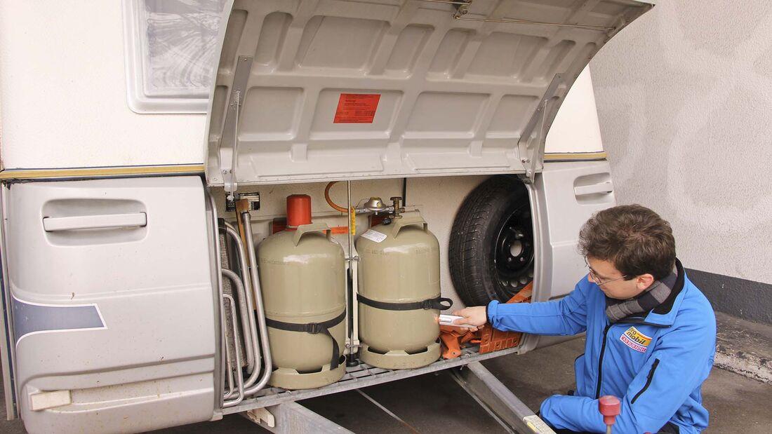 Caravan Gasfüllstand messen