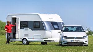 Caravan Hobby De Luxe mit Zugwagen