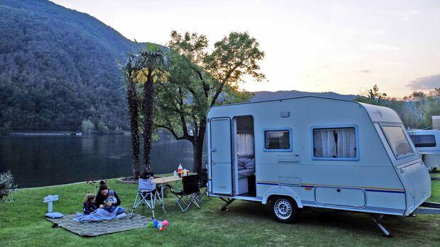 Caravans sind perfekt für den Familienurlaub.
