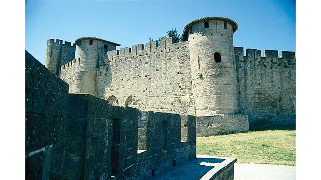 Carcassonne ist das Paradebeispiel einer Festungsstadt