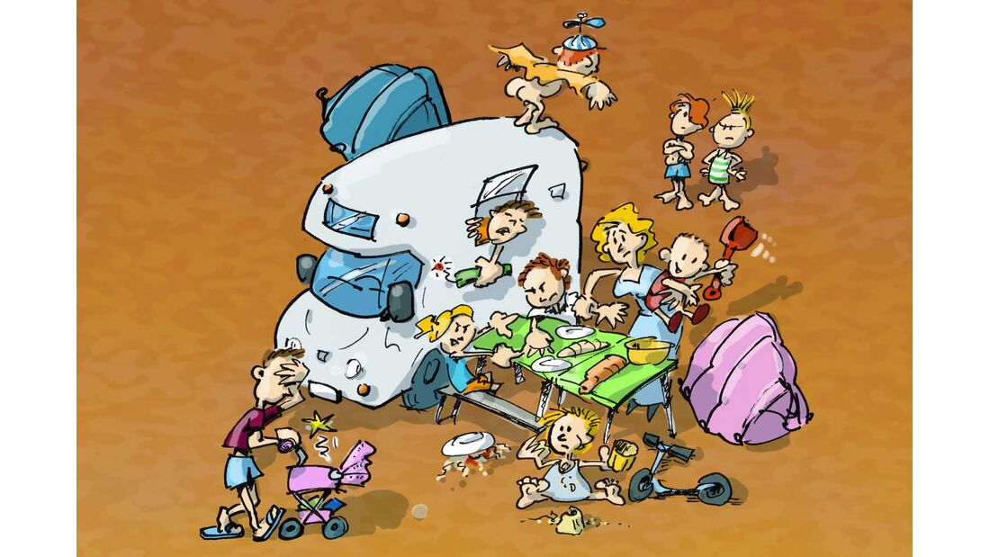 Cartoon Camper-Typen