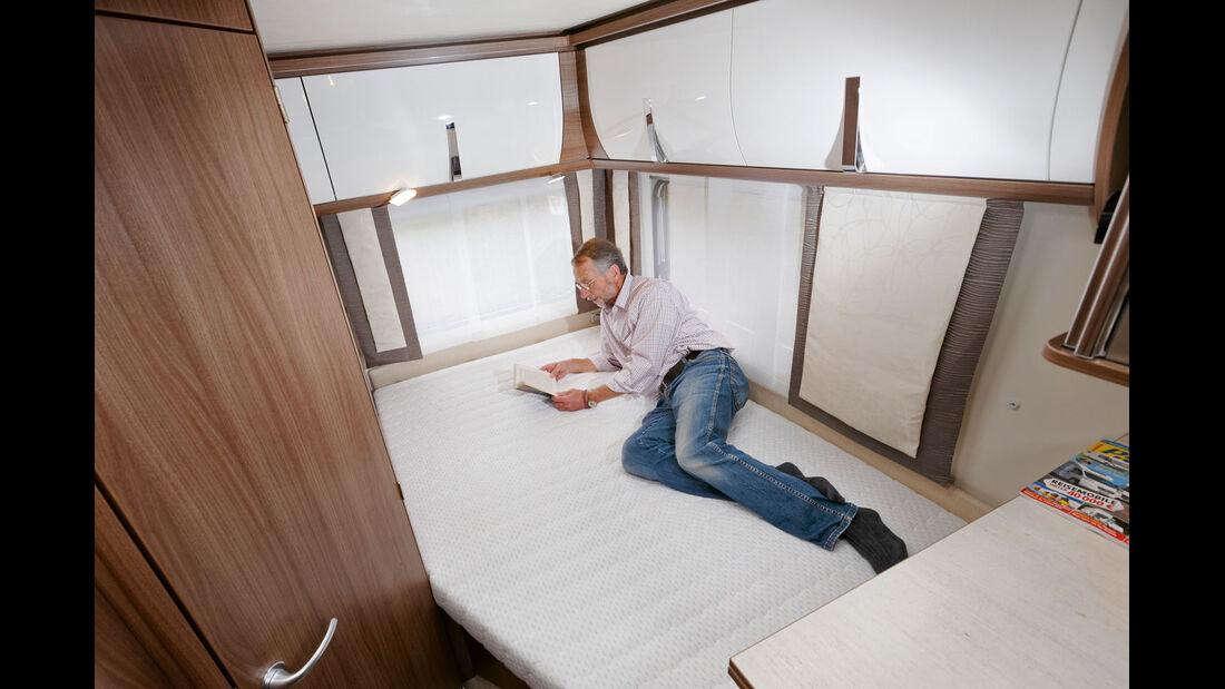 Das Bett ist nicht allzu gross.