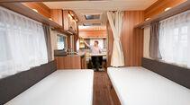 Das linke Bett des 480 EU ist 1,89, das rechte sogar 2,13 Meter lang.